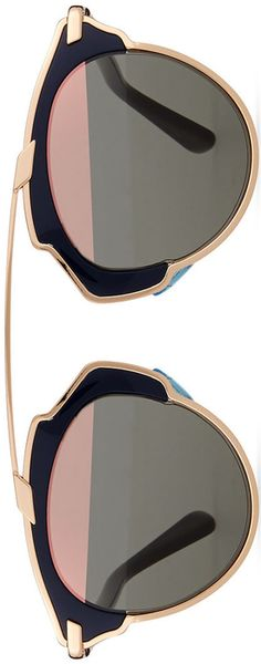 Dior So Real Brow Bar Sunglasses, Dark Blue