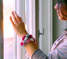 braided bracelet / knitted bangle / knot jewelry / by EvaSinai