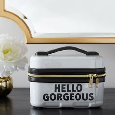 Shiny, sleek, and oh-so-safe, our Hard-Sided Cosmetic Case keeps even the most fragile of essentials securely stowed. Plus, the ultra-sturdy handle makes it easy to take on the go! Designed exclusively for PBteen by celebrity stylists and fashion designers Emily Current and Meritt Elliott, it captures their classic and rebellious aesthetic.