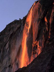 Yosemite Red Waterfall, once a year!!!!