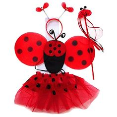 Does your little girl like the Ladybug Girl books? This set is a perfect choice as a World Book Day costumes for girls! Ladybug costume, ladybug accessories!