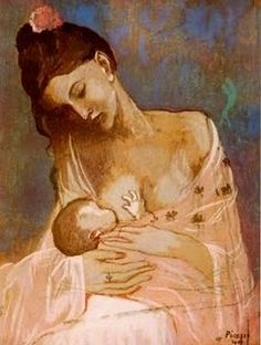 Picasso painting - breast feeding is the best feeding for the babies. The best start in his life you can give him! Pinned for BabyBump, the #1 mobile pregnancy tracker with the built-in community for support and sharing.