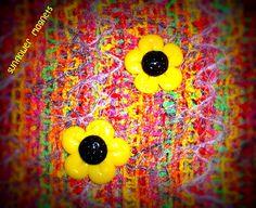 Sunflowers, sunflowers, sunflowers!!! #polymerclay