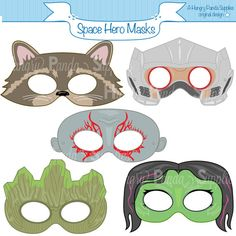 Space Hero Printable Masks - Great for Guardians of the Galaxy costumes!