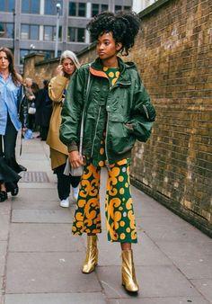 Candace Stewart Street Style from London Fashion Week Fall 2018