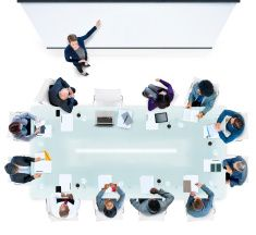 Business People Having a Meeting in the Office stock photo