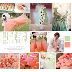 zomg that green dress in right corner. You pick a colored dress and I will worship you for life. Wedding Pins, Wedding Bells, Dream Wedding, Wedding Day, Wedding Reception Decorations, Wedding Themes, Wedding Styles, Coral Tie, Mint Coral