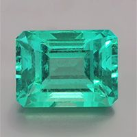 Clean Colombian emerald, 1.67 cts, crystal.