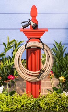 Wrangle your water hose with an easy customizable DIY hose caddy. Wrangle your water hose with an easy customizable DIY hose caddy. Backyard Projects, Outdoor Projects, Garden Projects, Projects To Try, Back To Nature, Garden Crafts, Lawn And Garden, Garden Bed, Yard Art