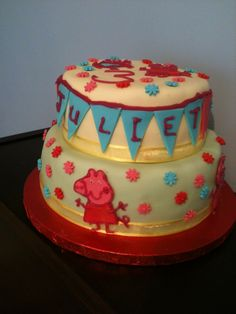 Peppa Pig 2-tier Birthday Cake