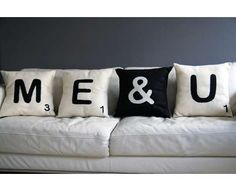 Scrabble Pillows- Pillow Fights with these will be 'Literally' Fun!! haha!! <3