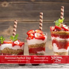 NATIONAL PARFAIT DAY – November 25 | National Day Calendar