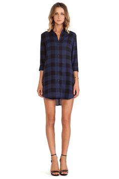 BB Dakota Keenan Plaid Shirt Dress in Ink | REVOLVE