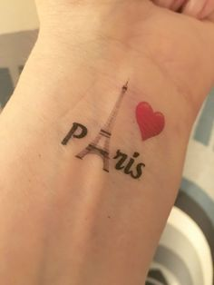 #prayforparis  Pray For Paris - I Love Paris Eiffel Tower Temporary Tattoo - Paris Attacks - Paris France - Eiffel Tower  ►DESIGN: Paris, Red