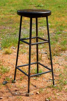 ReBarstool Rebar Industrial Seating by RaindropsInVirginia on Etsy Welded Furniture, Iron Furniture, Steel Furniture, Industrial Furniture, Furniture Design, Welded Metal Projects, Welding Projects, Metal Crafts, Wood Projects