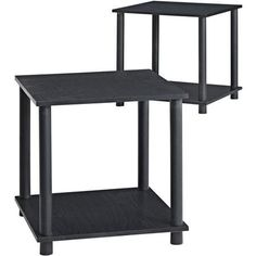 Mainstays Parsons No Tools Living Room Furniture Single Cube Shelf Oak Side End Tables with Storage Black Set of 2 ** See this great product.Note:It is affiliate link to Amazon.