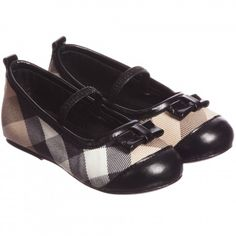 Girls Beige Nova Check Shoes