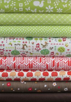 Fabricworm Custom Bundle, Through the Woods in FAT QUARTERS 8 Total