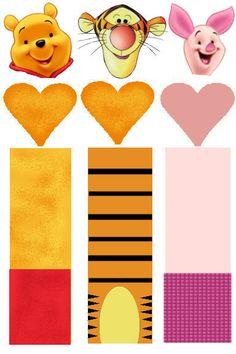 DIY Winnie The Pooh + Tigger + Piglet Printable Hershey Nugget Wrappers #DIY #Disney #FREE #Printables