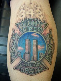 Firefighter dragon maltese shoulder shared by lion for Firefighter tattoos and meanings