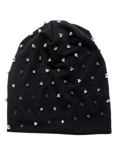 """Rocker Studded"" Knit Beanie (More Colors Available) #inkedshop #studded #beanie #studdedbeanie #hats #fashion"