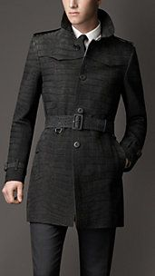 Mid-Length Alligator Leather Trench Coat!! HOLY COVET!