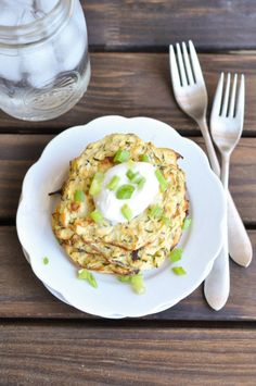Baked Zucchini Fritters | 22 High-Protein Meatless Meals Under 400 Calories