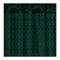 Emerald Damask Shower Curtain