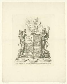 Wapenschild van Napoleon, 1808, anoniem, 1808    rijksmuseum  copyright free