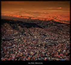 Top view of La paz, a city in Bolivia. Did you know this stunningly beautiful place is also the most populous city of the world? The Places Youll Go, Places To See, Travel Around The World, Around The Worlds, Bolivia Travel, South America Travel, Beautiful Places, Beautiful Sites, Stunningly Beautiful