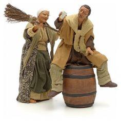 Scenetta ubriaco e donna con scopa 14 cm | vendita online su HOLYART