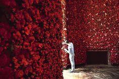 Roses, orchidées, delphinium... 22 espèces de fleurs ont été utilisées pour le décor du défilé Dior, le 2 juillet / Crédits : Dior couture