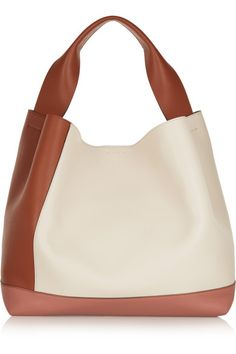 Top designer bags purses Antique-rose, cream and tan leather Lamb Snap-fastening tab at open top Designer color: Rock Glass Apricot Comes with dust bag Weighs approximately Made in Italy Leather Purses, Leather Handbags, Leather Bag, Leather Accessories, Handbag Accessories, Fashion Bags, Fashion Backpack, Clutch Bag, Tote Bag