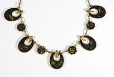 In #CherryOrchardAttic on #Etsy Vintage Kyoto Damascene Choker Necklace By KZ Japan #DamasceneJewelry #DamasceneNecklace #KyotoDamascene #Damascene #AsianJewelry #JapaneseJewelry #Japan #Kyoto #VintageNecklace #VintageJewelry #CrossNecklace #ChristianJewelry #UniqueJewelry #jewelryblogger #jewelrycollector #jewelry #necklace #blackandgold