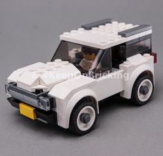 LEGO MOC 76897 Very White SUV by Keep On Bricking | Rebrickable - Build with LEGO