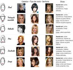 Um bom corte de cabelo adequado ao tipo de rosto criará harmonia e equilibrará feições.