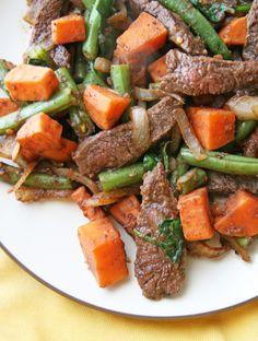 Beef Sweet Potato Stirfry