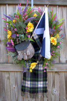 Top Quality Handmade Artisan Floral Wreaths for all Seasons Scottish Decor, Scottish Thistle, Scottish Tartans, Scottish Highlands, Clover Flower, Highland Games, Party Time, Crafty, Handmade
