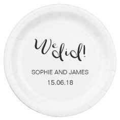 We Did Wedding Personalised Paper Plate - wedding decor marriage design diy cyo party idea