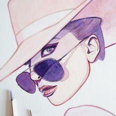 Another little sneak peek of my next #Joanne-inspired artwork 🌸🖌