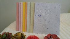 Handmade Paper Angel Cards Set 1 Mixed Colors Angel by 2curlycues