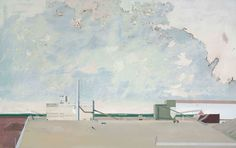 Robert seidel - Kieswerk Großsteinberg, 2006, Eitempera auf Lw, 190 x 300 cm