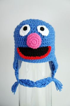 Grover Monster Hat Grover Crochet Baby Hat Baby by stylishbabyhats, $24.99
