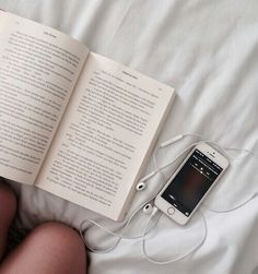 book, iphone, and music image