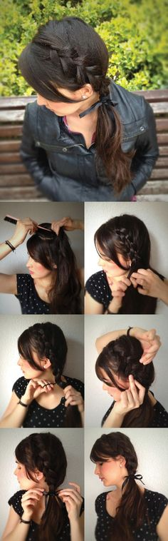 #DIY Inverted Side Braid - 5 Updated Braid Styles~ Neat ideas for holidays or special events?