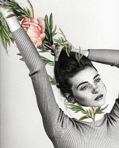 Luciana Aranha ( – Klara Schwemer - Value activa Collage Kunst, Mode Collage, Collage Art, Collages, Magazine Collage, Collage Poster, Collage Portrait, Instagram Collage, Instagram Blog