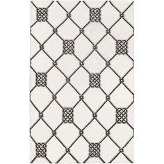 Hand-woven Surrey White Wool Rug (9' x 13')