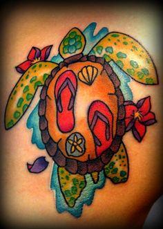 f2a18a412  seaturtle beach tattoo ....not the flip flops inside but