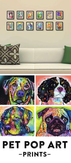 Celebrate your favorite furry friend with Dean Russo's mixed-media, pop art prints. They are sure to add a splash of color, personality and warmth wherever you display them.