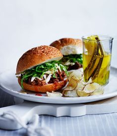 Sloppy Joes with pickles, cheese and chips recipe :: Gourmet Traveller